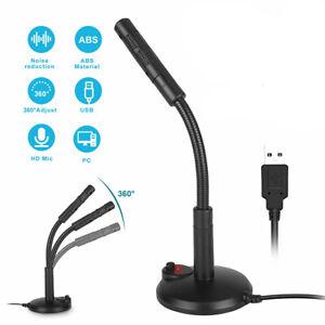 Universal USB Stand Mini Desktop Microphone Mic For PC Laptop MacBook Adjustable