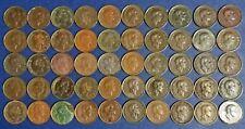 Sarawak Third White Rajah One Cent Coins 50 Pieces Lot 1927/1929/1930