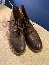 MR. B'S Gentilemens Boutique For ALDO Mens Brown Leather Wingtip Boots Sz42.5