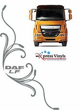 DAF truck stickers x 2 LF style decorative side cab window decals