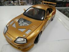 1:18 Ertl Fast Furious Paul Walker 1993 Toyota Supra Golden
