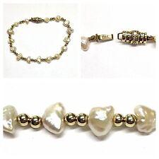 ACQUA DOLCE Bracciale di perle con 585er oro chiusura brillanti 0,12 ct