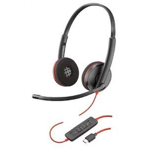 Plantronics Blackwire C3220 Stereo Headband USB-C Corded PC Headset 209749-101