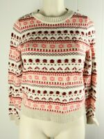 J CREW Sweater  Pullover Cable Knit Viscose Wool Nylon Blend A3
