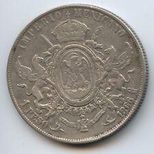 GB1366 - Mexiko 1 Peso 1866 M° KM#388.1 Maximilian von Österreich Silber RAR