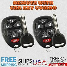 2 New Replacement Keyless Remote Car Fob for 15913427 + Circle Plus Keys n Clips