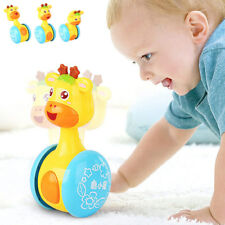 Baby Rattles Tumbler Doll Toy Bell Music Learning Education Toys for 0-12 Months