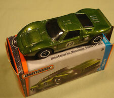 "Matchbox boxed Ford GT 40 olive green #23 ""Power Grabs"" 2017"