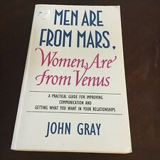 JOHN GRAY SIGNED BOOK, MEN ARE FROM MARS, WOMEN ARE FROM VENUS. 072252840X