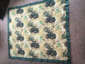 "John Deere Fleece Make Dirt Throw Blanket 48"" X 57"" with Fringe Soft Fleece"