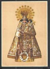 Holy card lamina antique grande Virgen de los Desamparados estampa santino