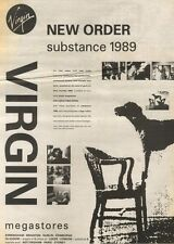 16/9/89Pgn02 Advert: New Order 'substance 1989' The New Video In Virgin 15x11