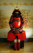 Japanese Iron & Silk Rüstung Art wearable Samurai Armor Red