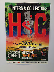 HUNTERS & COLLECTORS A Day On The Green 2014 Poster YOU AM I Sirromet Sun 2 Feb