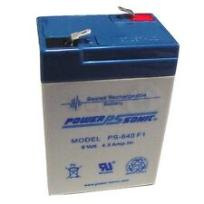 6V4.5ah, 9F4Y, CEL, CML75L2, CSU06 battery replacement  Powersonic