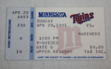 Minnesota Twins Ticket Stub | April 28 1991 | Jack Morris 200th Career Win