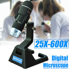 2MP B 25X-600X 8 LED Digital Microscope Endoscope Magnifier Camera + Stand