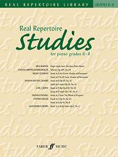 Real repertorio studi gradi 6-8 classica Assolo di pianoforte CANZONI FABER LIBRO MUSICA