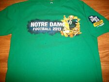 "Notre Dame Football 2013 ""The Shirt"" ND We Rise To Victory Green T-Shirt YthXL"