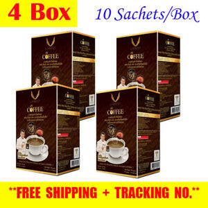 4x Cordyceps Coffee Plus Lingzhi Vitamin B Instant Mixed Healthy Herbal