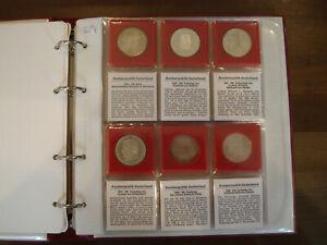 19 x 5 DM 625 Silber Germ. Museum Schiller Eichendorff Markgraf Baden 212,8 g