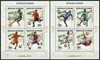 Burundi 2014 MNH FIFA World Cup Football Brazil 2x 4v M/S Soccer Sports Stamps
