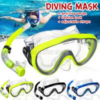 Adult Diving Glasses Mask Anti-Fog Snorkeling Swimming Scuba Goggles w/Snorkel