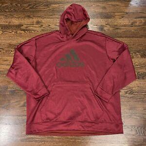 ADIDAS Big Logo Hoodie Sweatshirt Size 3XL XXL Maroon