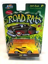 Jada Toys 2003 Road Rats 1932 Ford Yellow w/ Rubber Wheels 1:64 Die Cast Car MIB