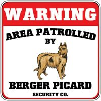 Wall Clock Berger Picard Dog Silhouette