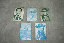 Arcade Cards Western Cowboys Gene Autry (Blue Tint) Plus Extras 1940-1950's Lot