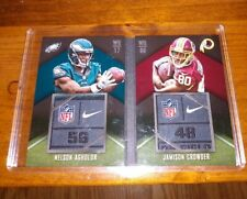 2015 Panini Playbook Dual NIKE LAUNDRY TAG RC Nelson Agholor Jamison Crowder /5
