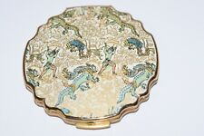 New listing Vintage Unique Stratton Compact Asian Dragons & Fairy Warriors! Mirror Powder!