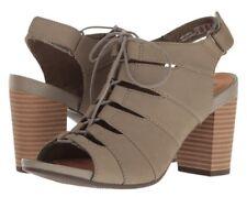 1be486dc62b Clarks Banoy Waneta Olive Green nubuck Block stacked Heel Ghillie sandal Sz  8