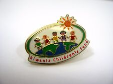 Vintage Collectible Pin: Kiwanis Children's Fund Very Cute Kid Design