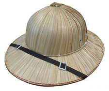 Natural Pith Helmet Safari Jungle Khaki Mens Womens Costume Hat