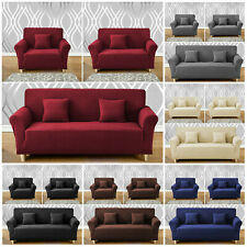 Spandex Elastic STRETCH SOFA COVERS Slipcover Protector Settee 1/2/3/4 Seater