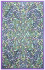 """3D KALEIDOSCOPE PAISLEY Psychedelic Tapestry/Wall Hanging 60""""x90"""" FREE GLASSES"""