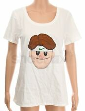 Nike Women's Size Medium Roger Federer RF Emoji Face White Tennis Shirt 889152