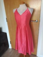 Ladies Dress Size 10 Pink Satin LUXE Party Evening Wedding Races Occasion