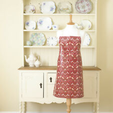 William Morris Red Strawberry Thief Pvc Wipe Clean Floral  Apron