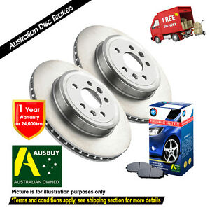 For SUBARU Forester SF 277mm 08/97-07/02 FRONT Disc Rotors (2) & Brake Pads (1)
