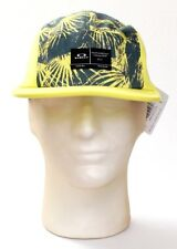 Oakley Bright Lime Latch 5 Panel Adjustable Cap Hat Men's One Size NWT