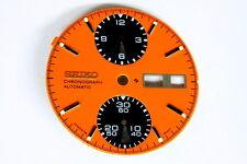 Panda dial for Seiko 6138-8020 automatic chronograph (orange)