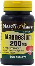 Mason Natural Magnesium 200 mg Tablets 100 ea (Pack of 2)