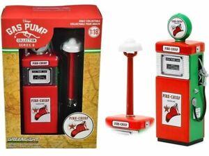 Texaco Fire Chief Gas Pump Replica Vintage Fuel Pump 1:18 Greenlight