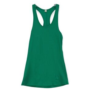 Under Armour Athletic Gym Tank Top Green Ribbed Stretchy Heat gear Womens Medium