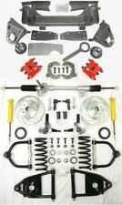 1947-54 Chevy Truck Mustang II Manual Front End Suspension Kit Stock Red Wilwood