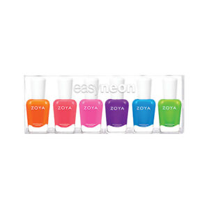 Zoya Nail Polish Easy Neon Summer 2021 Collection. Full Size. Wide Brush.
