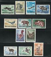 Romania 1955 MNH Mi 1565-1576 Sc 1082-1093 Romanian animals. WWF **